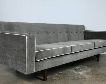 Dunbar bracket mohair sofa
