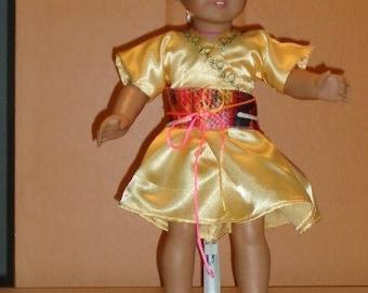 American Girl Yellow Kimono