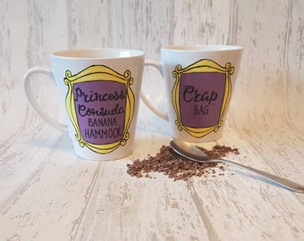 Princess Consuela Banana Hammock / Crap Bag - Friends inspired Couples mugs