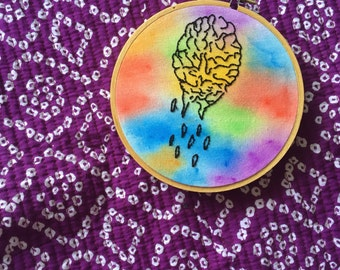 Brain Bleed Embroidery Wall Hanging