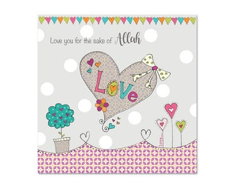 I Love You For The sake of Allah - Islamic Dua Greetings Card