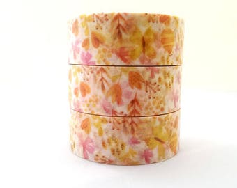 Washi tape yellow flowers Butterfly