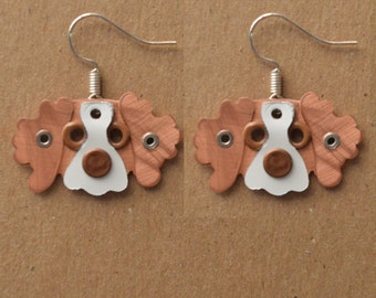 Brittany Spaniel Pet Lover Dog Metal Earrings Jewelry