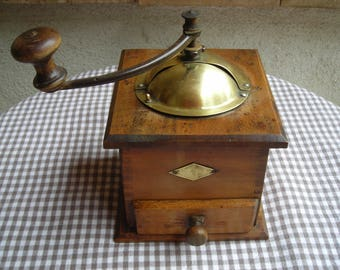 Vintage French Coffee Mill.  Old Coffee Mill. French Coffee Grinder.