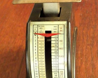 Vintage Postal Scale - weighs items up to 1 pound - brown - 1970's