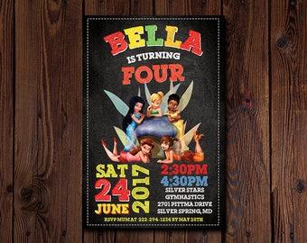 Tinker Bell Invitation , Tinker Bell Birthday Party Invitation , Tinker Bell Printables , Fairy Invitation , DIGITAL FILE