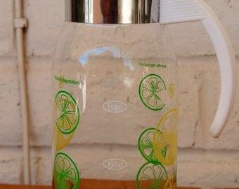 Mid-Century Vintage Lemon/Lime Glass Pitcher