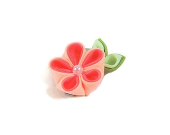 Flower Hair Clip, hair clips, hair accessories, kanzashi flower, hair flower, baby bows, flower headpiece, tiny baby hair clips, girl gift