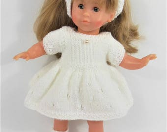 WHITE dress for doll-