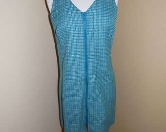 70s Handmade Zipper Front Dress