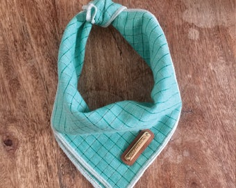 SERENITY. Teal Dog Bandana xs, small, medium, large, x-large