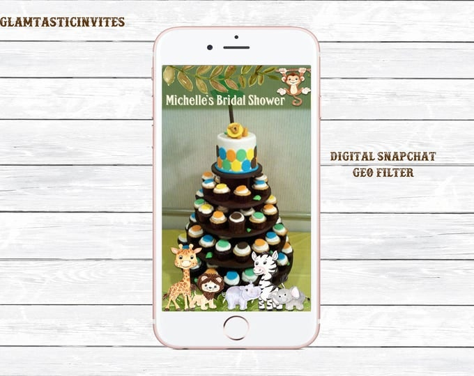 Snapchat Filter, Baby Shower Snapchat, Safari Snapchat Filter, Jungle Snapchat Filter, Safari Baby Shower, Photo Filter, Snapchat, GeoFilter