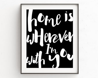 Downloadable Quote | Wall Art Home Decor | Mothers Day Gift | New Home Printable | Master Bedroom Art