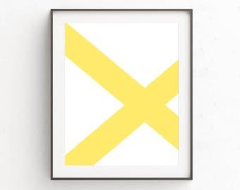 Yellow Printable Art | Digital Print | Extra Large Artwork