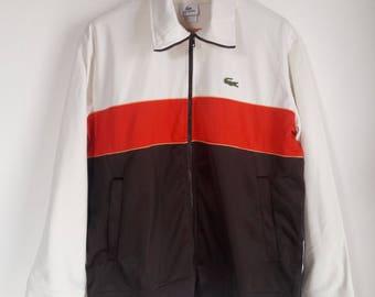 Vintage 90s Lacoste Multicolor Streetwear Track Jacket Large