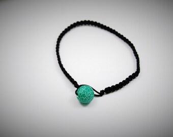 Wrap Bracelet | Black Bracelet | Blue, Green, White Bracelet | Men's Jewelry | Women's Jewelry | Beachy Bracelet