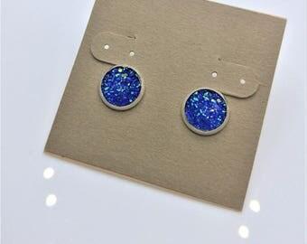 Periwinkle Druzy Earrings