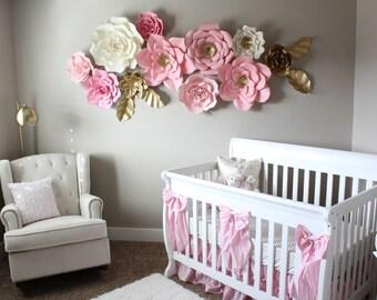 12 Pc Paper Flowers Backdrop Candy Buffet Decor Nursery