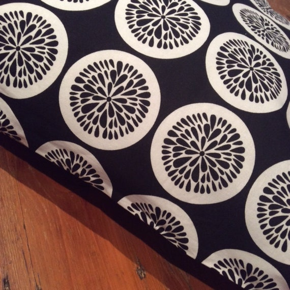 Black and White Citrus Pattern Cushion Cover, Various Sizes, Cotton, Quality Hand Made