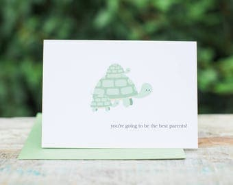 Cute Baby Turtle Card | You're Going to be The Best Parents!