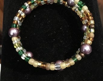 Purple Glass and Multi Colored Glass Beads