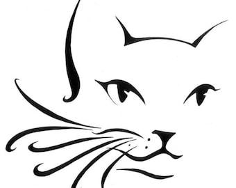 Folded book art cat test pattern