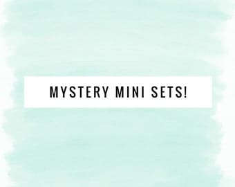 Mystery Mini Skein Set - Ballpoint Sock 80/20 superwash merino nylon hand dyed speckled variegated yarn - 200 yards