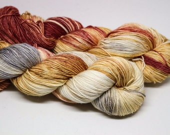 Betty - Fountain Pen fingering weight 70% superwash merino 20 silk 10 cashmere hand dyed speckled variegated yarn