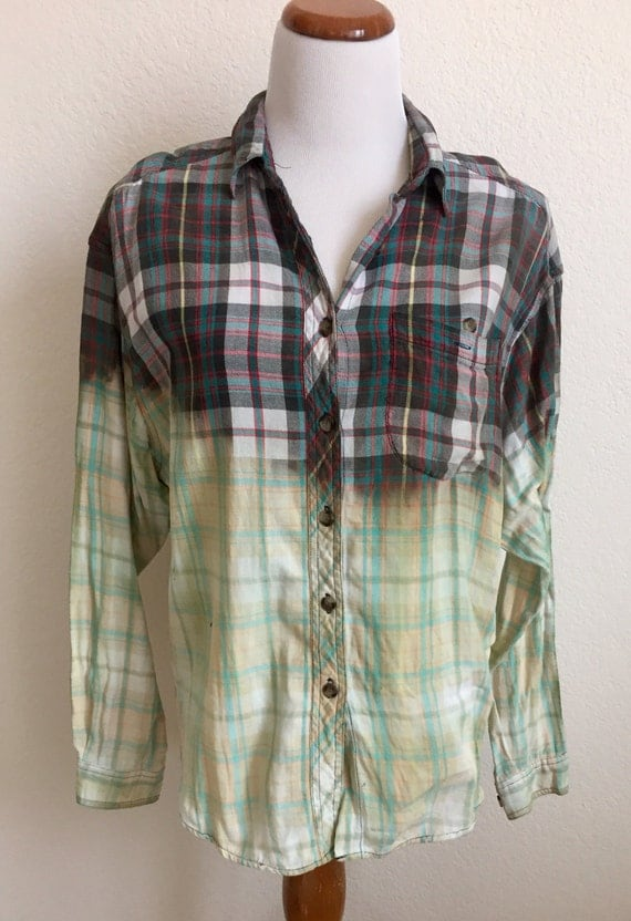 Bleached Repurposed Flannel