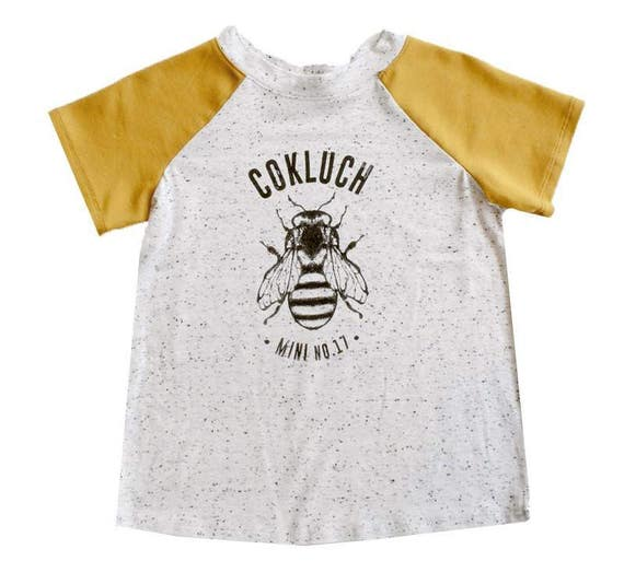 FRISBEE - Short-sleeve baseball shirts with Cokluch Mini No.17 beefor kids  - yellow and textured white