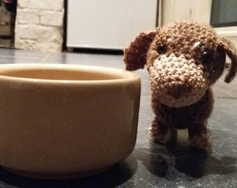 Crochet daschund dog