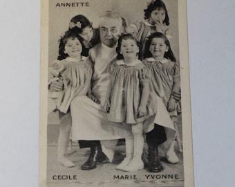 Postcard - The Dionne Quintuplets, Canada 1938 (P62)