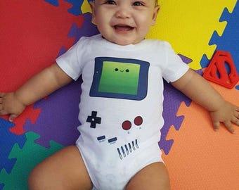 GameBoy Inspired Bodysuit - Video Game Handheld One Suit - Nintendo Inspired Baby One Piece