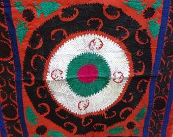 Suzani, Handembroidered Wallhanging, Uzbek Embroidery, Vintage BY artisanofrajasthan