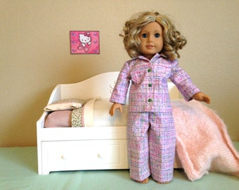 "American girl or other 18"" Doll Pajamas"