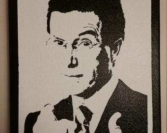Stephen Colbert Stencil Spray Painting #1