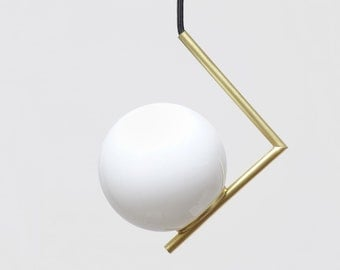 Minimal modern geometric  pendant lamp, Ceiling lamp,  Balance Lamp
