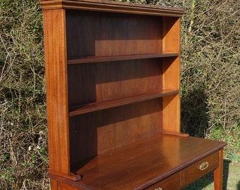 Edwardian Welsh Dresser, Oak Dresser, Country Kitchen Plate Rack, Hall Dresser