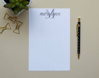 Personalized Initial Notepad / Monogram Notepad / Personalized Notepad / Name Notepad