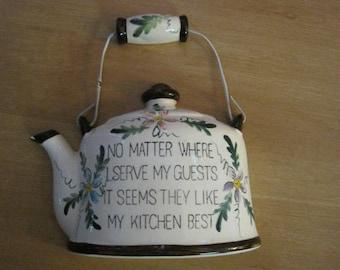 Vintage decorative teapot / Vintage ornamental Teapot
