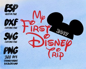 My first Disney trip Mickey Clipart , SVG Cutting , ESP Vectors files , T shirt , iron on , sticker ,Personal Use