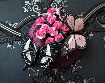 Schmetterlingsfascinator Spring Awakening hair accessories Hat