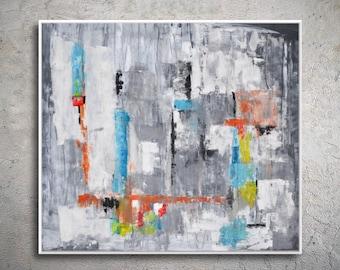 Hand Made Acrylic Painting On Canvas, Abstract Art Decor. Large Contemporary Paintingt Modiz art
