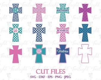 Religious Cross Cut Files, Christian Cross SVG Cut Files, Religious Cross DXF Cut Files, Christian Cross Eps / Png / Jpeg Files, SET 1 0067