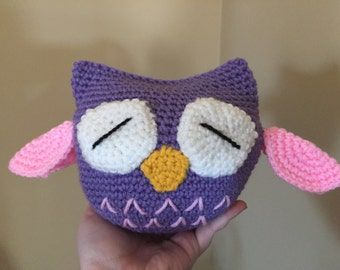 Crochet Owl Toy, Plushie, Doll, Amigurumi