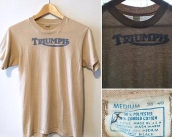 Vintage 80's Triumph Motorcycle T-shirt // Mint