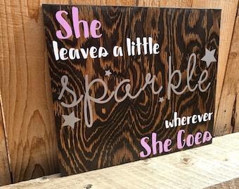 She Leaves A Little Sparkle Wherever She Goes | Girls Room Decor