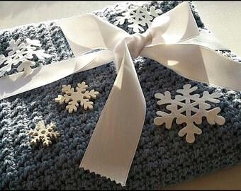 Soft baby blanket Blue Blanket Stroller blanket Handmade blanket Baby gift Newborn blanket Car seat blanket