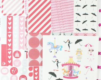 Spoonful of Sugar-Happy (MAMBI) Planner Sampler Kit (NF193) High Gloss, Semi-Gloss, Matte Planner Stickers