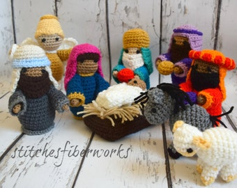 Nativity Set, Crochet Nativity Set, Christmas, Crochet Christmas set, Crochet Nativity, Crochet Mary and Joseph